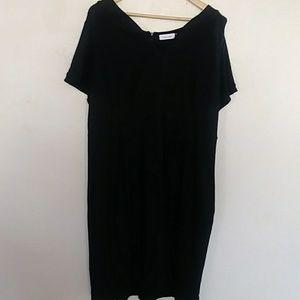 Calvin Klein plus size black dress